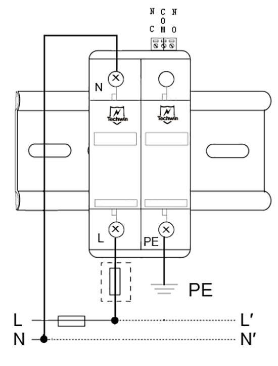 M40B1+N接线示意图