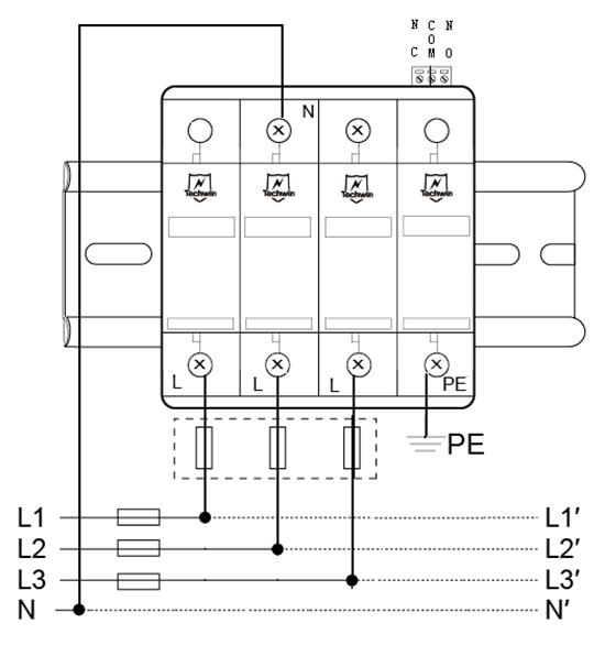 M60B3+N接线示意图