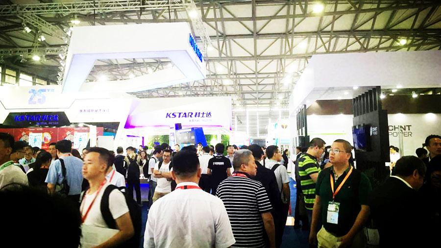 深圳天盾雷电在2018上海光伏展上大放异彩